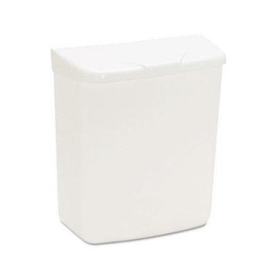 HOSPECO Wall Mount Sanitary Napkin Receptacle-ABS, Plastic, 1gal, White