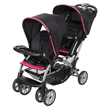 Baby Trend Sit n Stand Double Stroller, Optic Pink