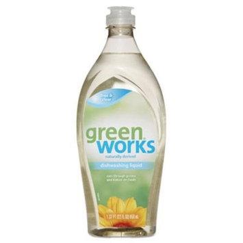 Green Works 31359EA Dishwashing Liquid, Free & Clear, 22 oz Squeeze Bottle