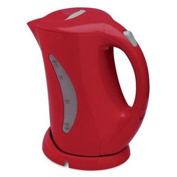 Salton 1.7-Liter Cordless Electric Kettle, Red