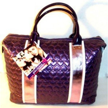 Justin Bieber Girlfriend Quilted Purple Hearts Satchel
