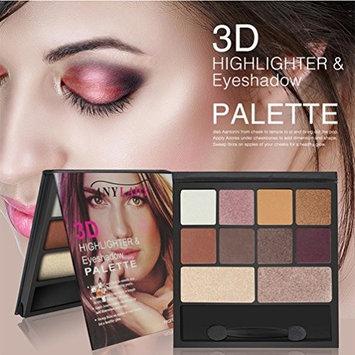 10 Colors Eyeshadow Eyebrow Combination Palette,YOYORI Shimmer Eye Shadow Makeup Waterproof Palette Cosmetic Eyeshadow Blush Lip Gloss Powder (C)