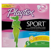 Playtex Sport Unscented Tampon Multipack - 36 count
