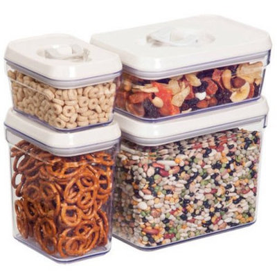 Honey Can Do 8pcs locking lid storage set