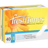 Fresh Times Regular Unscented Pantiliners, 40ct