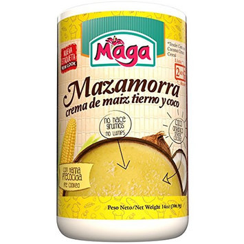 MAZAMORRA (Tender Corn and Coconut Cream Cereal) by Maga Foods Puerto Rico - 12 oz (Count of 2)