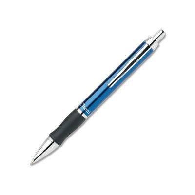 Pentel Client Retractable Ballpoint Pens - Medium Point Type - 1mm Point Size - Refillable - Black - Blue Barrel - 1 Each