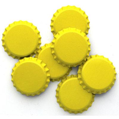 Beer Bottle Crown Caps - (Yellow)