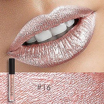 16#FOCALLURE Sexy Matte/Metal/Diamond/Chameleon Lip Gloss Lasting non-stick cup does not fade -1
