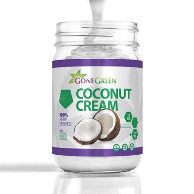 Gone Green Superfoods Organic Coconut Cream with Hemp Extract 12 oz