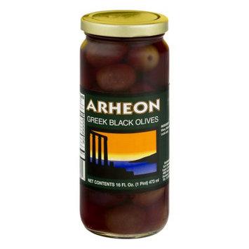 Tut's International Export & Import Co Arheon Greek Black Olives, 16 fl oz