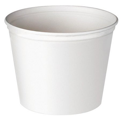 Solo Cups 53 Oz Double Wrapped Paper Bucket in White