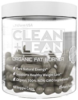 Fit Farm Usa CLEAN + LEAN -ORGANIC FAT BURNER by FitFarm USA - Worlds First Organic Fat Burner Supports Healthy Weight Loss with 100% Organic Non-Gmo Ingredients! Gluten Free & Vegan 60 Caps- 'Feel the Clean'