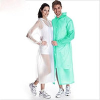 safeinu Emergency Adult Waterproof Raincoat poncho