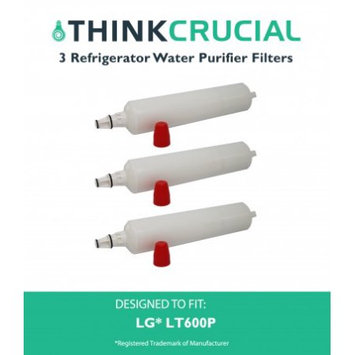 Crucial Air 3 LG LT600P Refrigerator Water Purifier Filters Fit LG LT600P & 5231JA2005A.