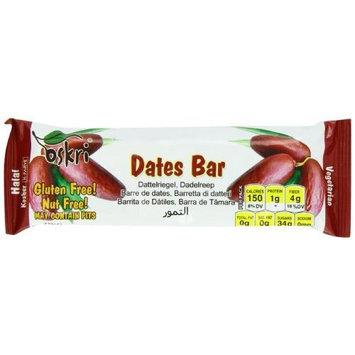Oskri Bar, Date, 1.9 Ounce (Pack of 20)