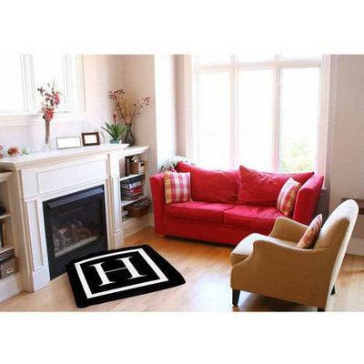 Thumbprintz Classic Block Monogram Black Indoor/Outdoor Pet Bed