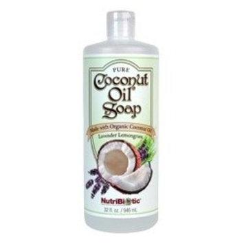 Pure Coconut Soap Lavender Lemongrass Nutribiotic 32 fl oz Liquid [Lavender Lemongrass]