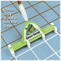 Grout Gator- Easily Clean Grout Dirt Lime Between Tiles- Attachable Sponge