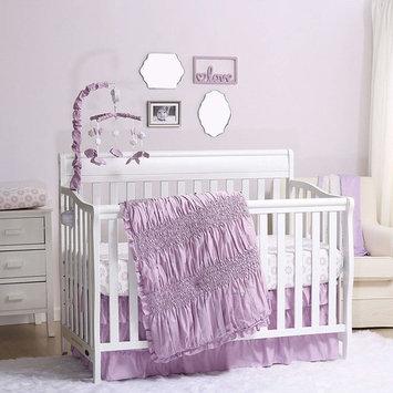 Lilac Kisses Purple Baby Crib Bedding - 11 Piece Sleep Essentials Set