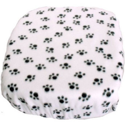 Fido Pet Products FidoRido Fleece Cover -White/Black Paw Prints