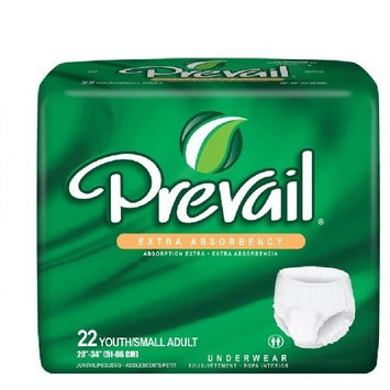 Prevail Adult Underwear, EXTRA, Size Small, Full Case of 88 Briefs (146-2407)
