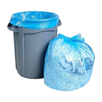 Large Trash Bags 55 Gallon, Heavy Duty Recycling Garbage Bags, 50/Case, Blue