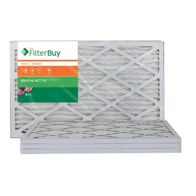 AFB Bronze MERV 6 11.25x19.25x1 Pleated AC Furnace Air Filter. Filters. 100% produced in the USA. (Pack of 4)