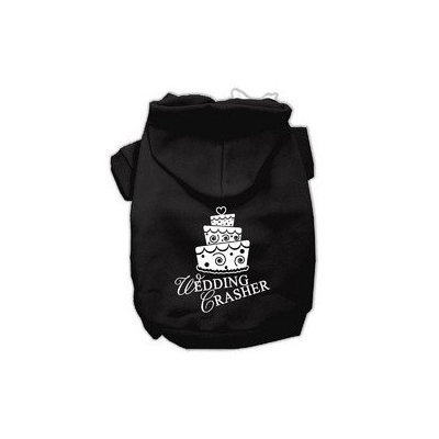 Mirage Pet Products Wedding Crasher Screen Print Pet Hoodies Black Size XL (16)