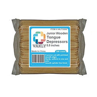 Vakly Junior Wooden 5.5 inches Tongue Depressors (Pack of 500)