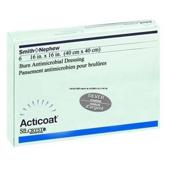Smith & Nephew 20201 ACTICOAT Silver-Coated Antimicrobial Barrier Dressing, 4