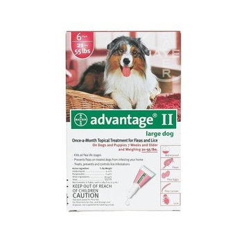 Flea Control for Dogs and Puppies 21-55 lbs 6 Month Supply (2 Pack)