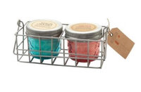 Cc Home Furnishings Paddywax Ocean Tide Sea Salt & Salted Grapefruit Scented Soy Candle Wire Caddy Gift Set