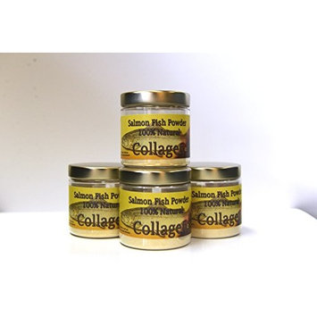 SALCOLL COLLAGEN Salmon Collagen Powder - Organic Collagen For Joint Pain Rheumatoid Arthritis & Osteoporosis - Aids Tissue Cartilage & Bone Regeneration For Extra Energy Mobility & Vitality - 4 Pack
