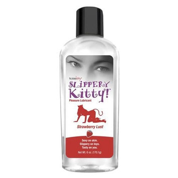 Tickle Kitty Slippery Flavored Water Based Lubricant, Strawberry Lust, 6 Ounce