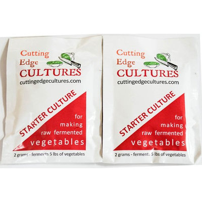 Cuttingedgecultures Cutting Edge Cultures Vegetable Starter Fermentation Culture, 2 Pouches, 4g Probiotic Canning