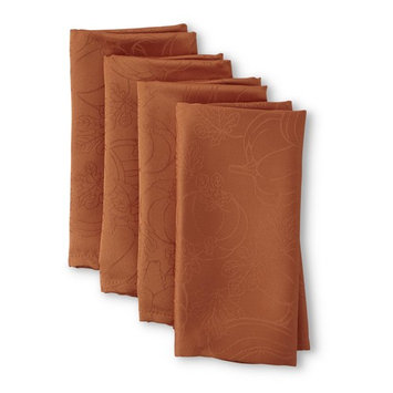 Be Thankful 4pk Damask Fabric Napkin Set