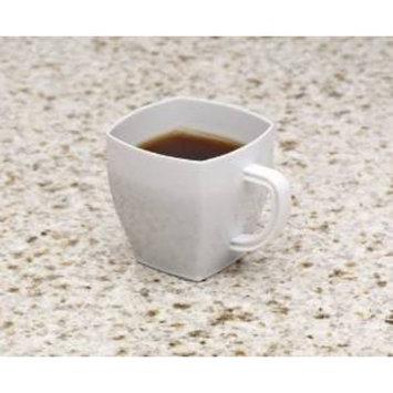 EMI Yoshi Koyal Solid Square Espresso Mugs, 2-ounce, White