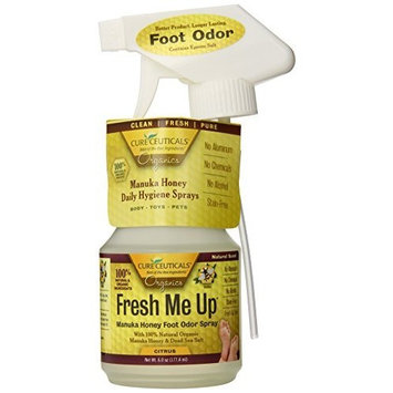 Cureceuticals Fresh Me Up Foot Odor Manuka Honey Daily Foot Hygiene Spray - Citrus, 6-Ounce
