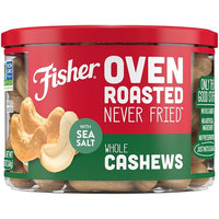 FISHER Oven Roasted Never Fried, Whole Cashews, Made with Sea Salt, 8.75 oz [Whole Cashews]