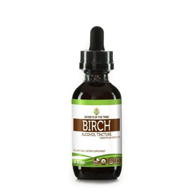 Secrets Of The Tribe Birch Tincture Alcohol Extract, Organic Birch (Betula Pendula) Dried Leaf 2 oz