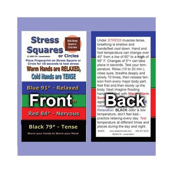 Stress Square Instruction Card---Stress Square not included [100]