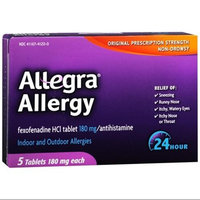Allegra Adult 24 Hour Allergy Relief, 5-Count (Pack of 6)
