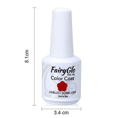 FairyGlo 4 Color Well-Picked Gelpolish Nail Polish UV LED Soak Off Gel Manicure Beauty Varnish Fashion Nail Art Kit Gift Set Base Top 15ml 120