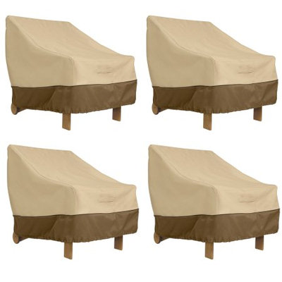Classic Car Accessories Classic Accessories Veranda Deep Seated Patio Lounge Chair Cover - Durable and Water Resistant Patio Cover, 4-Pack
