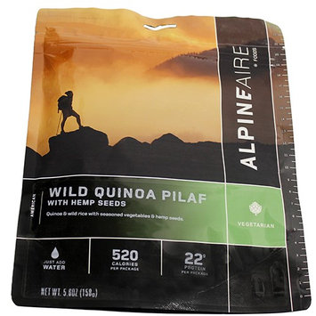 Alpine Aire Foods Wild Quinoa Pilaf w/Hemp Crispies Serves2 SKU: 60449 with Elite Tactical Cloth