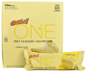 Oh Yeah ISS Research OhYeah!® ONE Protein Bar Lemon Cake - 12 Bars pack of 4
