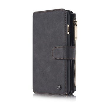 Doinshop PU Leather Wallet Cards Holder Stand Phone Case Cover For Apple iPhone 6/6S (Black)