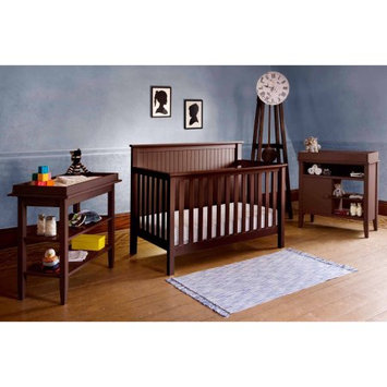 Lolly & Me Lolly and Me Americana 4-in-1 Fixed-Side Convertible Crib, Espresso