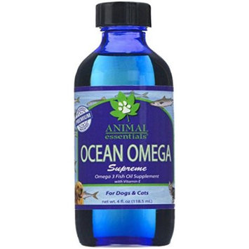 Ocean Omega Supreme Liquid Fish Oil Supplement for Dogs & Cats, 4 oz, Animal Essentials